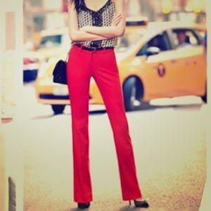 Express   editor red barely boot pants slacks 2